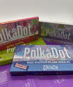polka dot mushroom chocolate