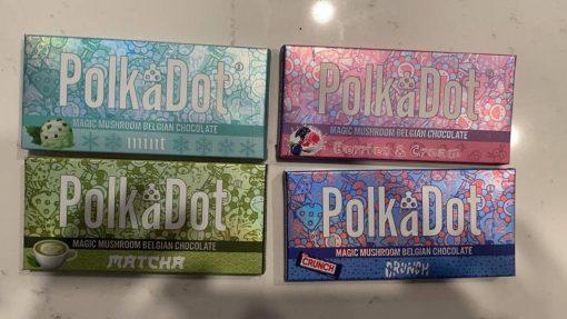 polka dot chocolate bar